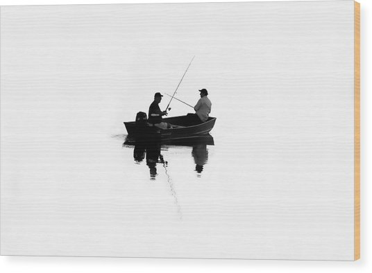 Fishing Buddies Wood Print