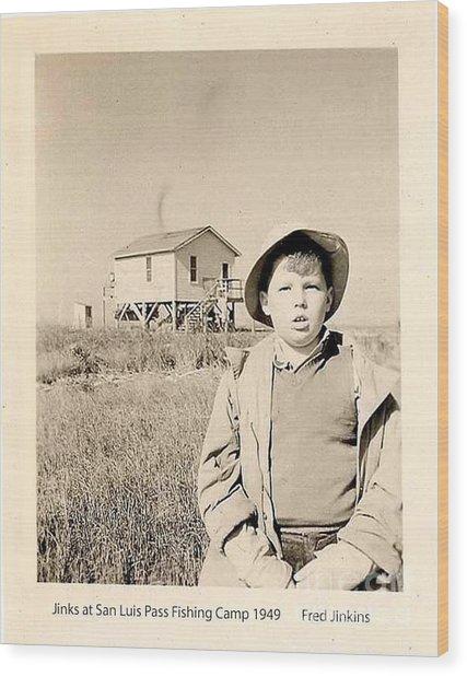 Fishing Camp 1949 Wood Print