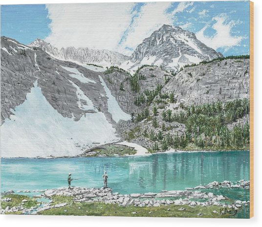 Fishing Gem Lake Wood Print