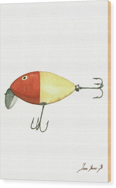 Fishing Lure  Wood Print