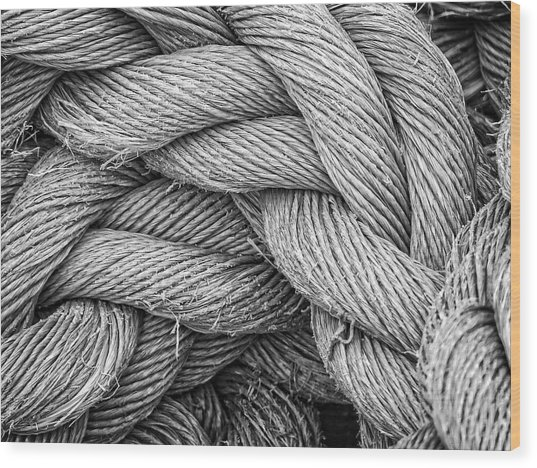 Fishing Rope Wood Print