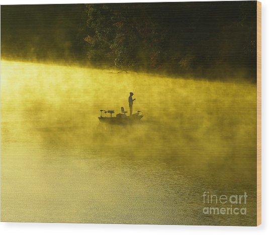 Fishing The Prettyboy Reservoir Wood Print