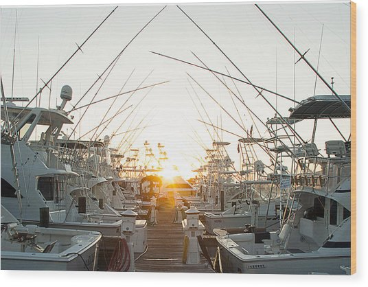 Fishing Yachts Wood Print