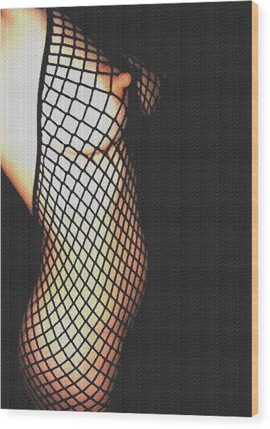 fishnet I Wood Print