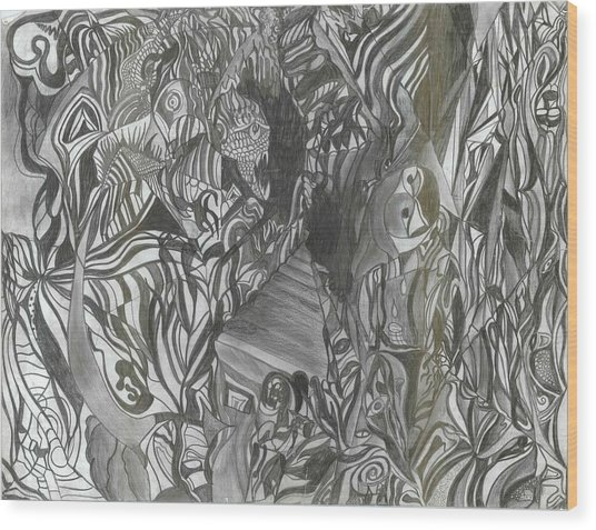 Fist Doodle Wood Print by Joseph  Arico
