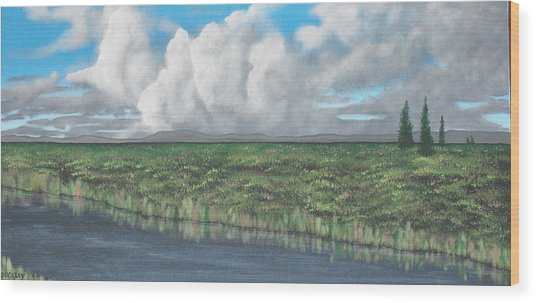 Five Pines Wood Print by Candace Shockley
