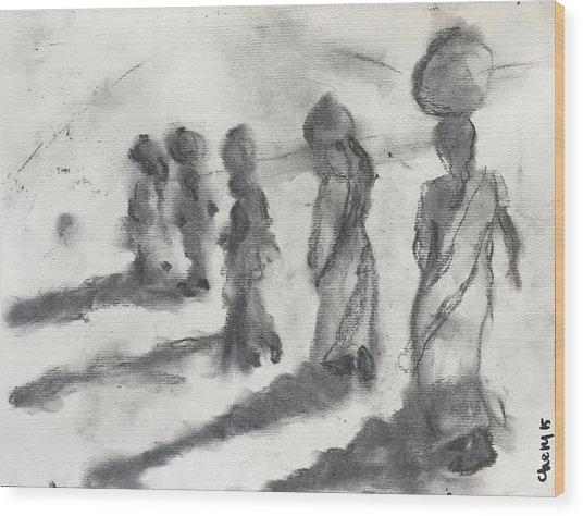 Five Women Immigrants Wood Print