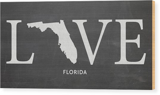 Fl Love Wood Print