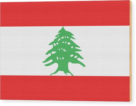 Flag Of Lebanon. Wood Print