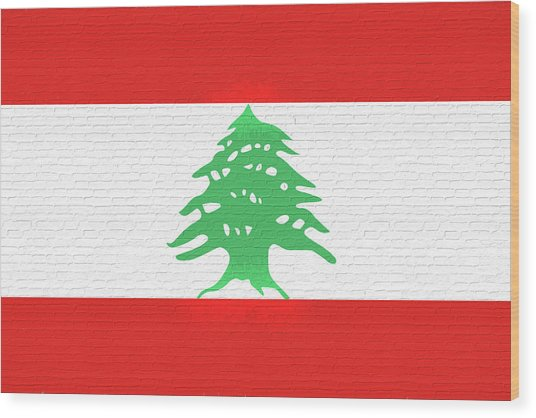 Flag Of Lebanon Wall Wood Print