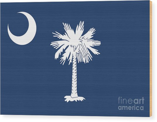 Flag Of South Carolina Authentic Version Wood Print