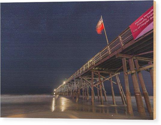 Flagler Beach Wood Print