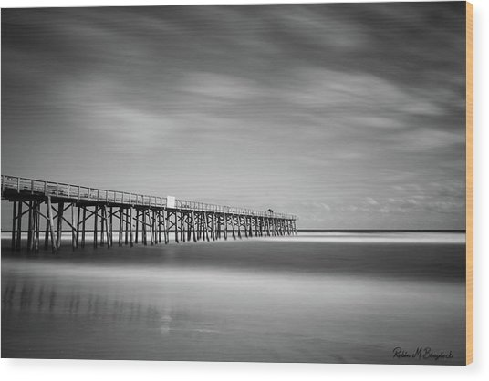 Flagler Beach Pier Wood Print