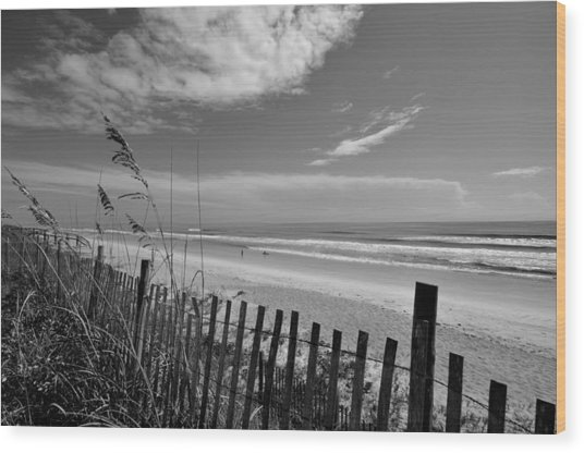 Flagler Beach View Wood Print