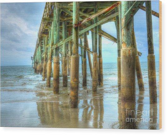 Flagler Pier Wood Print