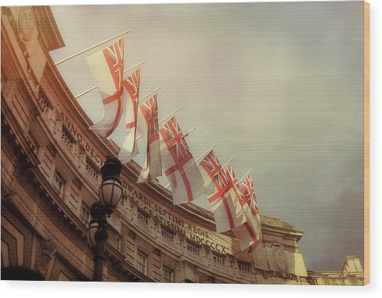 Flags Of London Wood Print by JAMART Photography