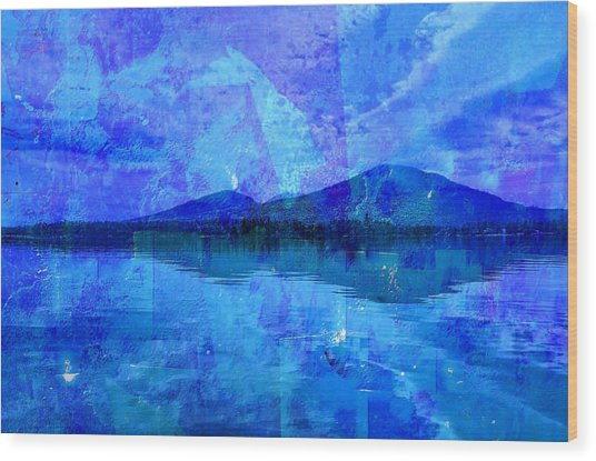 Flagstaff Lake Blu Wood Print
