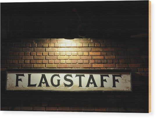 Flagstaff Train Station Wood Print