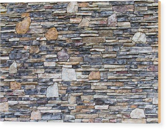 Flagstone Wall Wood Print