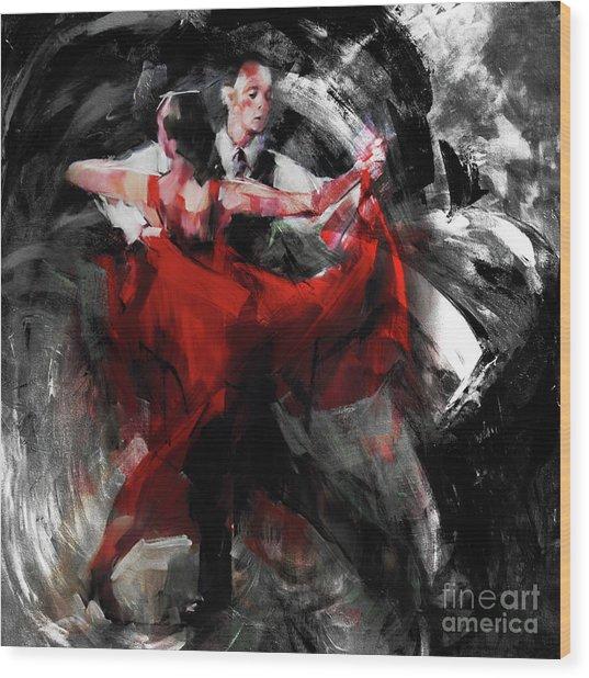 Flamenco Couple Dance  Wood Print