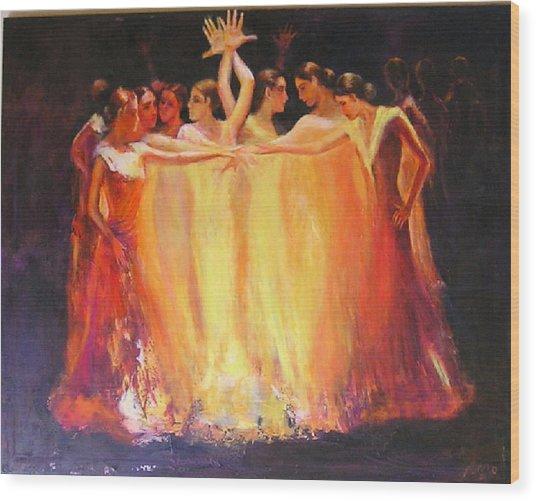 Flamenco Dance Of Light Wood Print