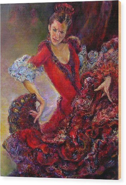 Flamenco Dancer 10 Wood Print