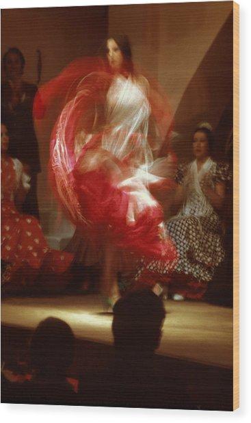 Flamenco Dancer In Seville Wood Print