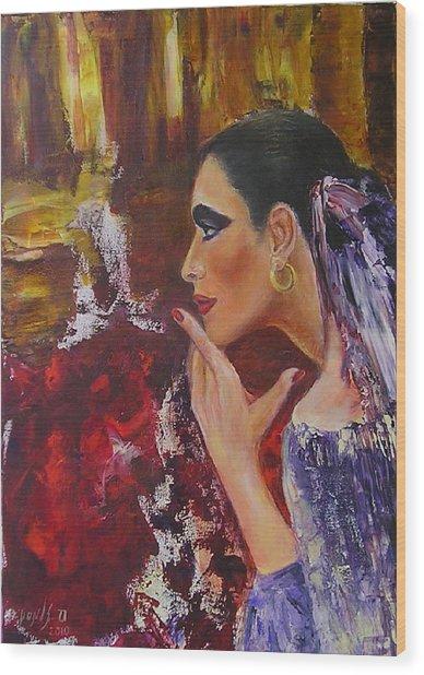 Flamenco Dancer  Mb Wood Print