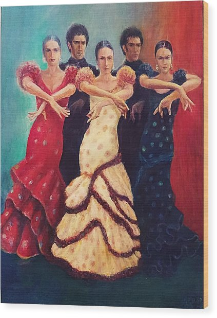 Flamenco Dancers 5 Wood Print