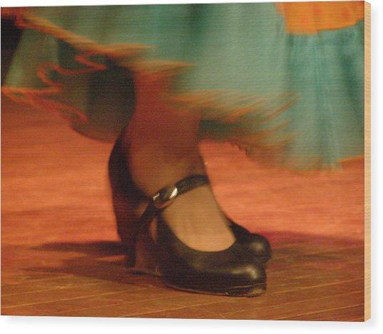 Flamenco Feet Wood Print