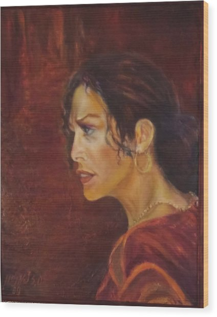 Flamenco Girl 1 Wood Print