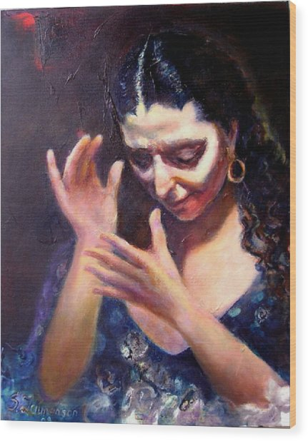 Flamenco Soul Wood Print