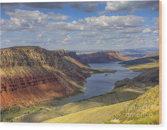 Flaming Gorge Wood Print