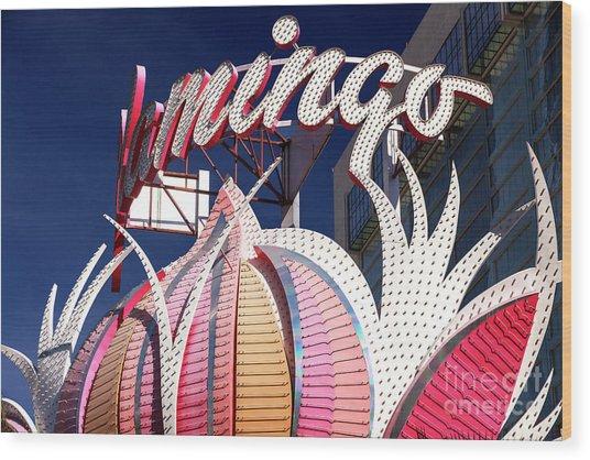 Flamingo Colors Las Vegas Wood Print by John Rizzuto