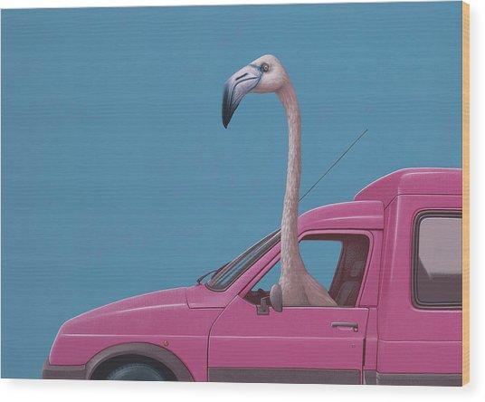 Flamingo Wood Print