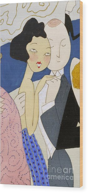 Flapper Roaring 20s Couple Dancing Phone Case Wood Print