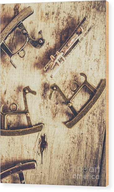 Flashback From The Wooden Toy Box Wood Print