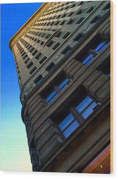 Flat Iron Sunset Wood Print by Keith Rousseau