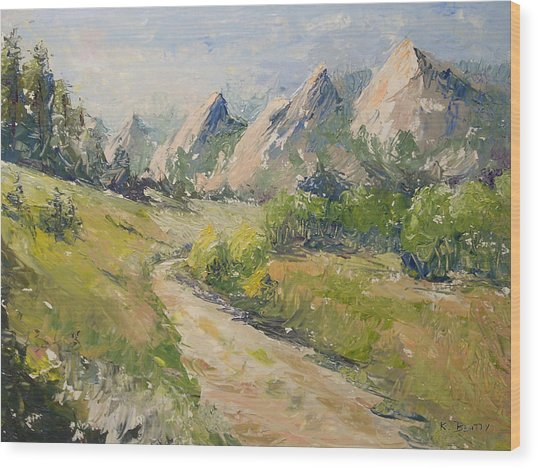Flatirons In The Rockies Wood Print