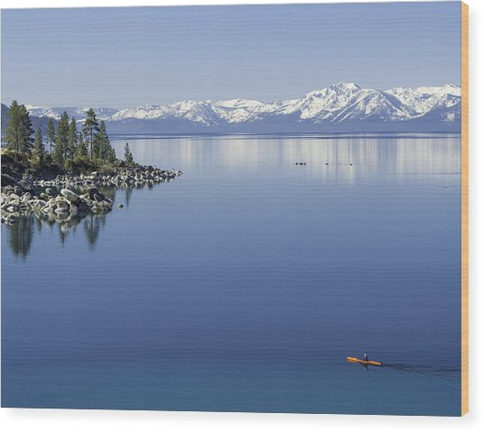 Flatwater Kayak Wood Print