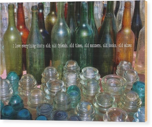 Flea Market Quote Wood Print by JAMART Photography