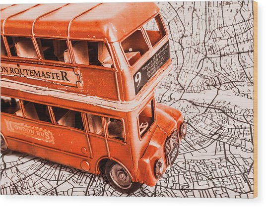 Fleet Street Wood Print