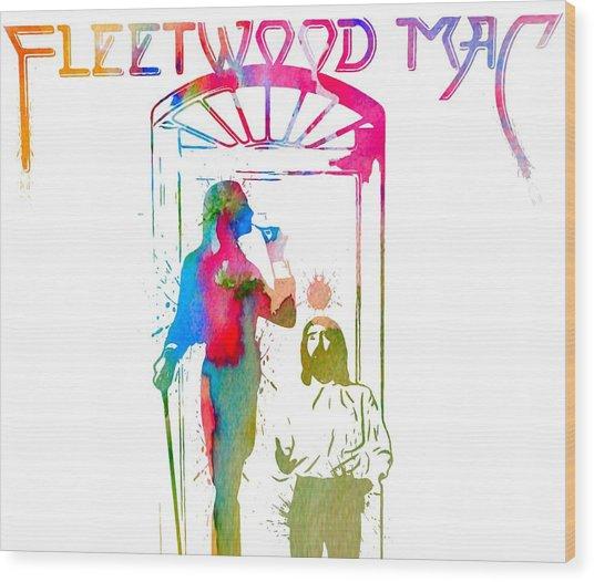 Fleetwood Mac Album Cover Watercolor Wood Print