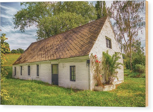 Flemish Cottage Wood Print