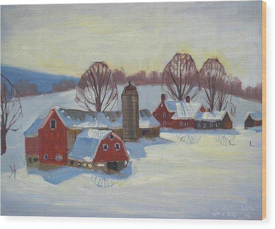 Fletcher Farm Wood Print