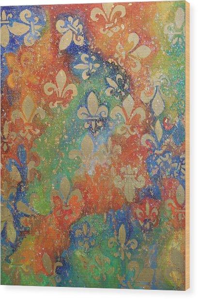Fleur De Arcencial Wood Print by Made by Marley
