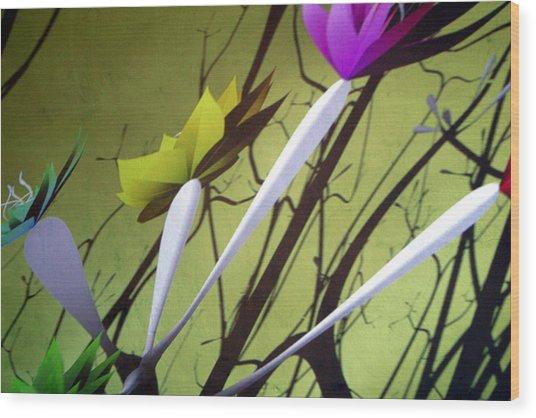 Fleurs 2 Wood Print by Jez C Self