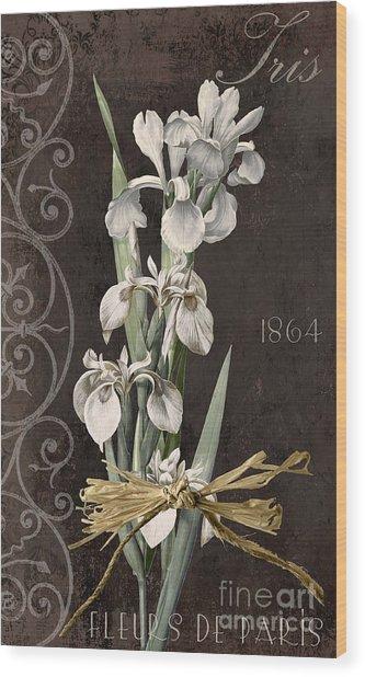 Fleurs De Paris II Wood Print