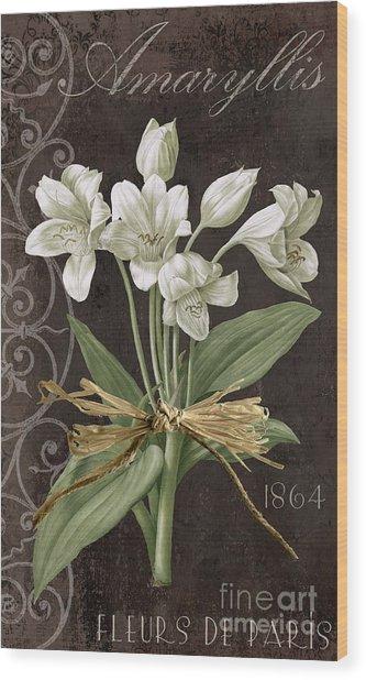 Fleurs De Paris Wood Print
