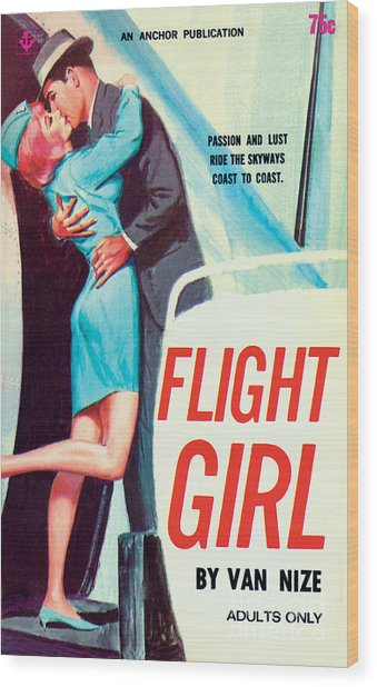 Flight Girl Wood Print